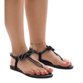 Mustat sandaalit, joissa on flitterit CX0707