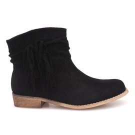 Suede Ankle Boots ZY9040 musta