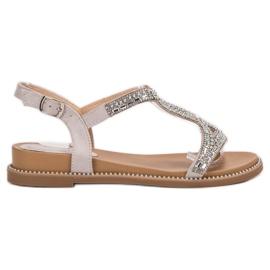 Bello Star Suede sandaalit kristalleilla harmaa