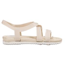 SHELOVET Slip-in kumi sandaalit valkoinen