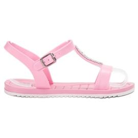 SHELOVET pinkki Kumi sandaalit
