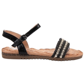Emaks musta Mukavat naisten sandaalit