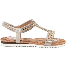Emaks keltainen Sisustettu naisten sandaalit