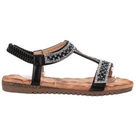 Emaks Sisustettu naisten sandaalit musta