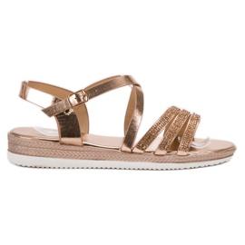 SHELOVET keltainen Mukavat Rose Gold -sandaalit