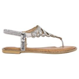 SHELOVET harmaa Japanilaiset sandaalit kiteillä