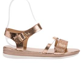 SHELOVET Muodikkaita sandaaleja zirkoneilla