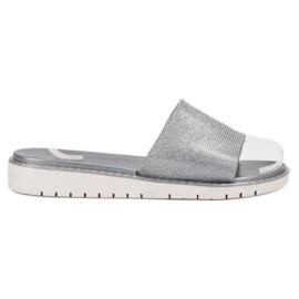 Fashion harmaa Muodikas kiiltävä Flip Flops
