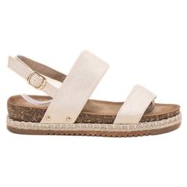 Bestelle ruskea Sandaalit Brokadilla