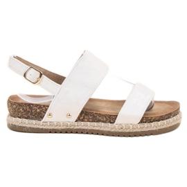 Bestelle valkoinen Sandaalit Brokadilla