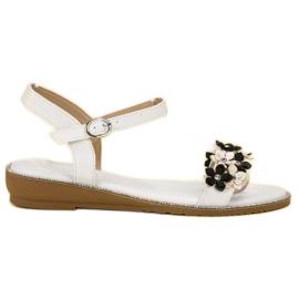 Forever Folie valkoinen Sandaalit kukkia