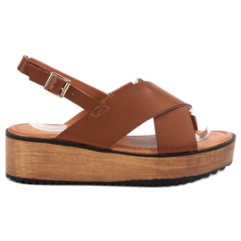 SHELOVET ruskea Platform-sandaalit
