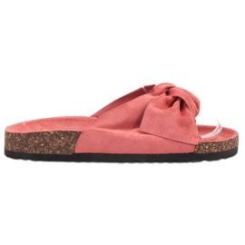Bona punainen Suede Flip-flops Bowilla
