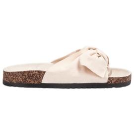 Bona ruskea Suede Flip-flops Bowilla