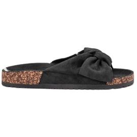 Bona musta Suede Flip-flops Bowilla