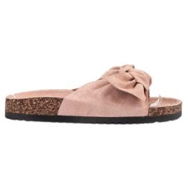 Bona pinkki Suede Flip-flops Bowilla