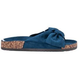 Bona sininen Suede Flip-flops Bowilla