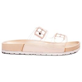 Ideal Shoes ruskea Läpinäkyvät läpät Se solki