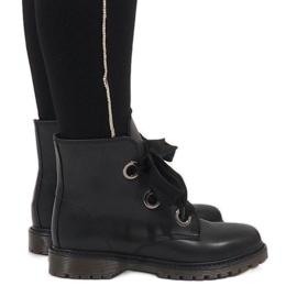Kayla Shoes Musta pitsi-saappaat PF276