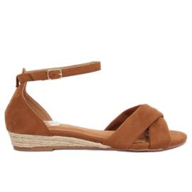 Sandaalit espadrillit ruskea 9R121 Camel