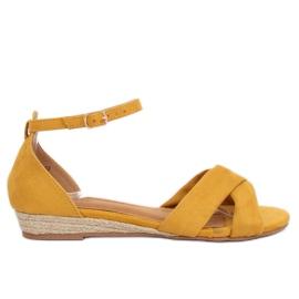 Sandaalit espadrillit keltainen 9R121 Keltainen