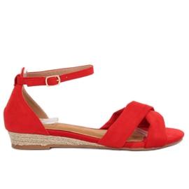 Sandaalit espadrillit punainen 9R121 Punainen