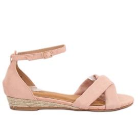 Pinkki Sandaalit espadrillat vaaleanpunainen 9R121 Vaaleanpunainen