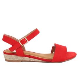 Sandaalit espadrillit punainen 9R73 Punainen