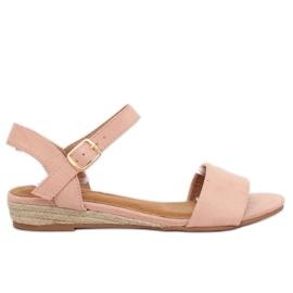 Sandaalit espadrillat vaaleanpunainen 9R73 Pink pinkki