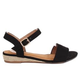 Sandaalit espadrillit musta 9R73 Musta