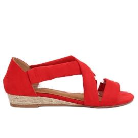 Sandaalit espadrillit punainen 9R72 Punainen