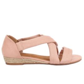 Pinkki Sandaalit espadrillat vaaleanpunainen 9R72 Vaaleanpunainen