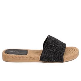 Naisten musta tossut JFF-V182 Black