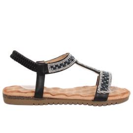 Musta naisten sandaalit HT-67 Black