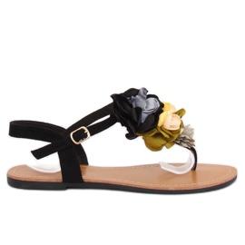 Flip-flops kukat musta L518 Black