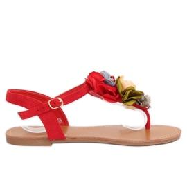 Flip-flops kukat punainen L518 Red