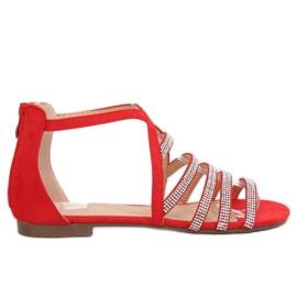 Naisten sandaalit punainen LL6339 Punainen