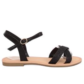 Musta ja musta naisten sandaalit WL282 Black