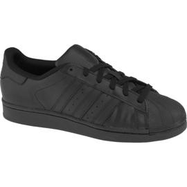 Musta Adidas Superstar J Foundation Jr B25724 kengät