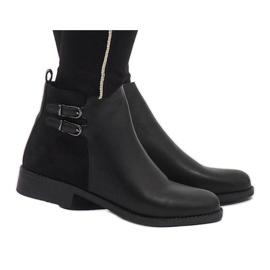 Ideal Shoes Mustat elegantit C-7200-saappaat