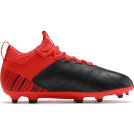 Jalkapallokengät Puma One 5.3 Fg Ag JR105657 01 punainen musta
