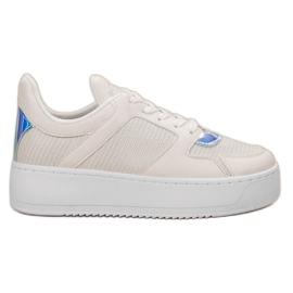 Ideal Shoes valkoinen Tennarit jossa Brocade