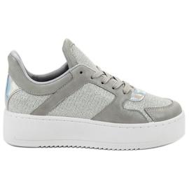 Ideal Shoes harmaa Tennarit jossa Brocade