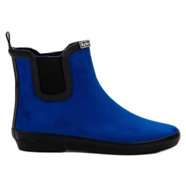 Kylie sininen Suede Leather Wellies