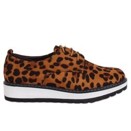 Mokkasiinit naisille leopard C-7225 Leopard Print ruskea