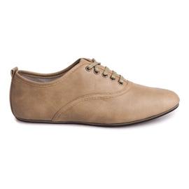 Ruskea Tyylikkäät kengät Jazzówki 8312 Beige
