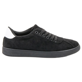 Ideal Shoes Mustat nauhakengät