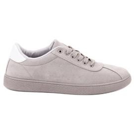 Ideal Shoes Harmaat pitsijalkineet