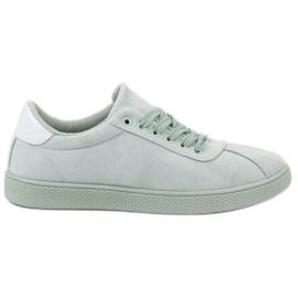 Ideal Shoes vihreä Mintanauhakenkä