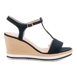 Anesia Paris Vaalean laivastonsiniset sandaalit sininen